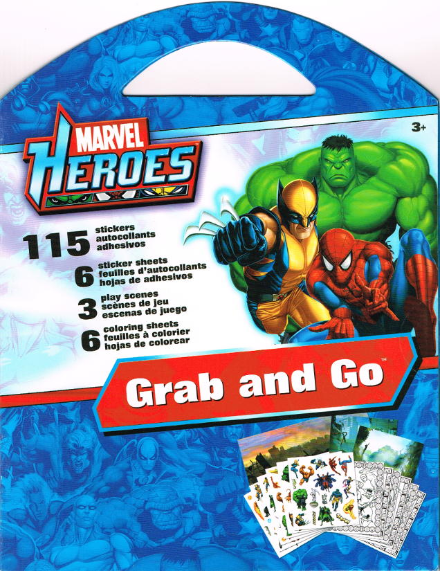 Marvel Super Heroes Grab And Go Coloring Stickers Sandylion